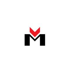 letter mv m and v symbol logo sign vector image