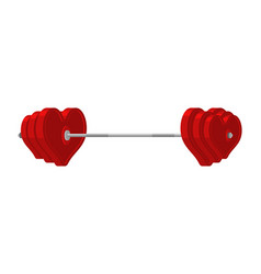 love barbell heart weights amur fitness sports vector image