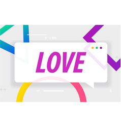 Love in design banner template for web vector
