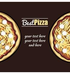 MenuPizza vector image