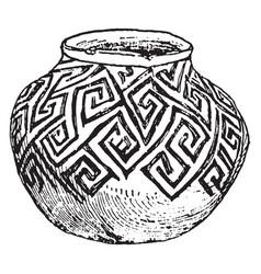 mexican tusayan jar sketched in the american vector image