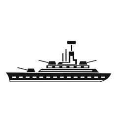 Military warship icon simple style vector