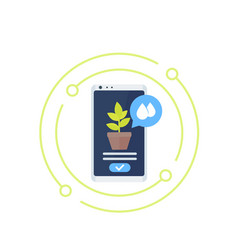 mobile app for plants icon vector image