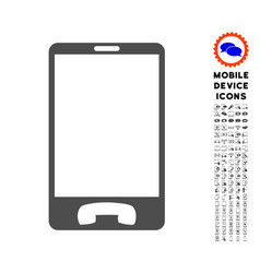 Mobile phone icon with set vector