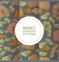 money packing in bundles bank notes bills fly vector image