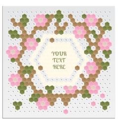 Mosaic Flower Card vector image