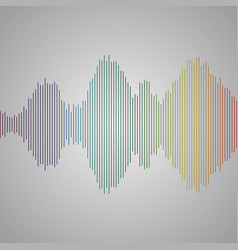 multicolor sound wave from equalizer background vector image