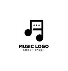 Music chat logo template icon logo design vector