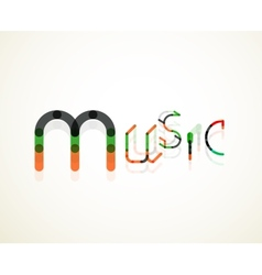 Music font word concept vector image