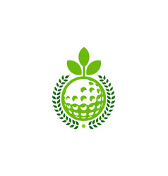 Nature golf logo icon design vector