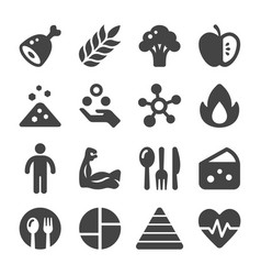 Nutrition icon vector