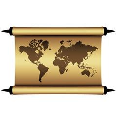 Parchment world map vector