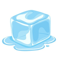Piece of ice cube melting vector
