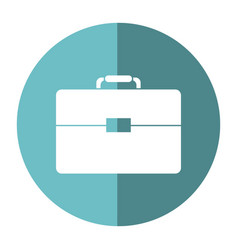 portfolio suitcase business document shadow vector image