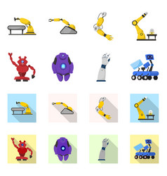 Robot and factory sign set vector