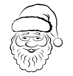 Santa claus face pictogram vector