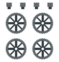 Set gear reducers for quadcopter vector