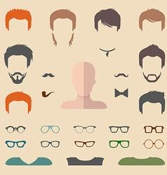Set of cartoon head icons vector image