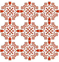 Slavic geometrical ornament seamless pattern vector image