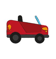 sport car cabriolet cartoon vector image