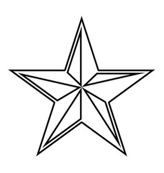 Star five corners pentagonal star icon black vector