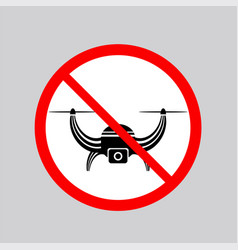 Stop airdrone allowed sign photo and video air vector