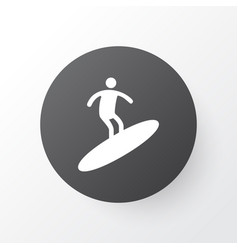 surfing icon symbol premium quality isolated vector image