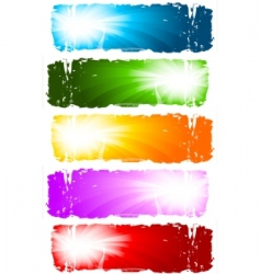 swirl banners collection vector image