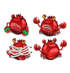 Trapped fancy monster in the form of a crab vector