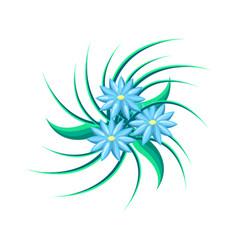 tropical flower with leaves vector image