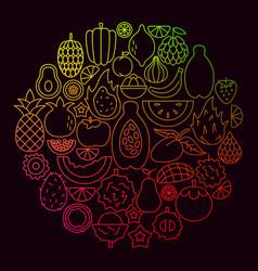 tropical fruit icon circle concept vector image