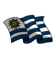 Uruguay flag isolated icon vector