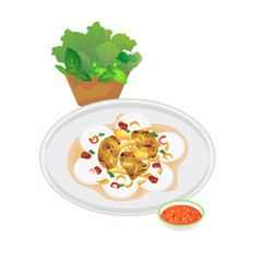 Vietnamese food vector