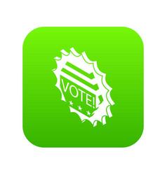 vote emblem icon green vector image