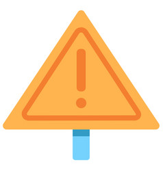 warning sign flat icon vector image