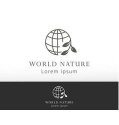World nature logo globe creative logo simple vector