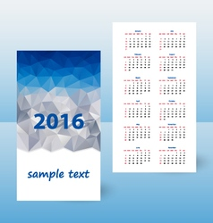 Year calendar triangular design mountains vector