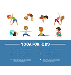 yoga for kids banner template with place for text vector image