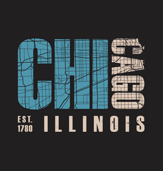 chicago illinois t shirt print vector image vector image