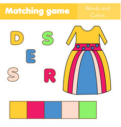 children educational game words puzzle match by vector image