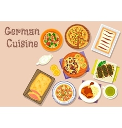 German cuisine lunch icon for menu design vector image