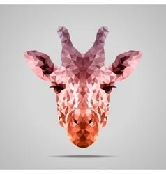 Giraffe low poly Voodoo Raw Sienna vector image