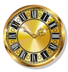 Gold vintage watches vector image