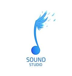 Record Studio logo flat style vector image vector image
