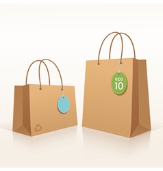 Recycle shopping brown bag vector image vector image