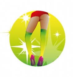 sexy candy legs vector image