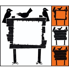 Sign and Crows vector image vector image