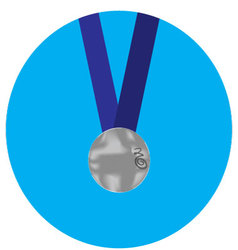 Silver medal icon vector image