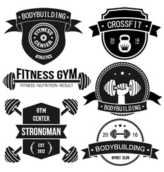 Sport And Fitness Badges vector image vector image