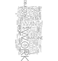 work is the key text word cloud concept vector image vector image